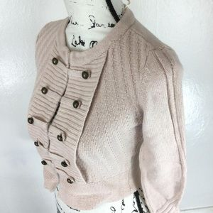 New H&M Pink Military Style Cardigan